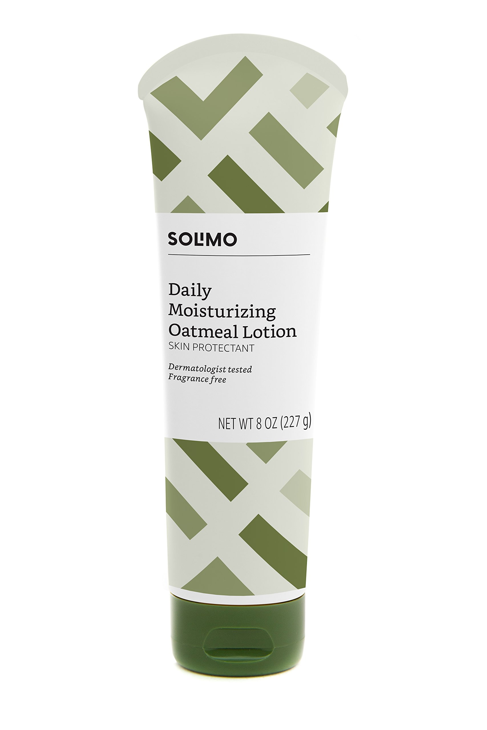 Amazon Brand - Solimo Hypoallergenic Daily Moisturizing Lotion with Colloidal Oatmeal, 8 Ounce