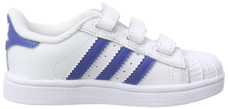 Adidas Superstar I, Zapatillas Unisex Bebé, Blanco (Ftwbla/Rosfue/Ftwbla), 17 EU