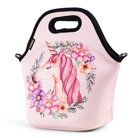 Amazon.com: Bolsa de almuerzo de neopreno, lindas bolsas de ...