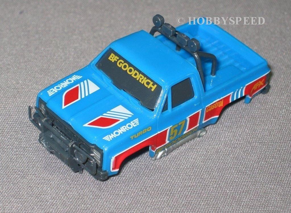 AFX Ho GMCトラック# 57スロット車ボディブルー B07DCY72YY