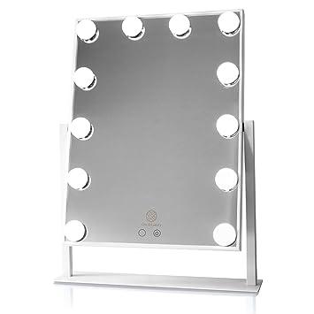 Chic And Luxury Hollywood Style Mirror Illuminated Vanity White