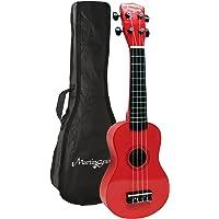 Martin Smith UK-212-RD Soprano Ukulele with Ukulele Bag Red