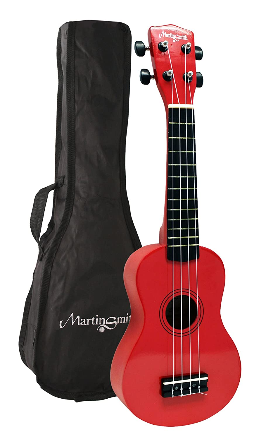 Martin Smith Soprano Ukulele - Red UK-212-RD