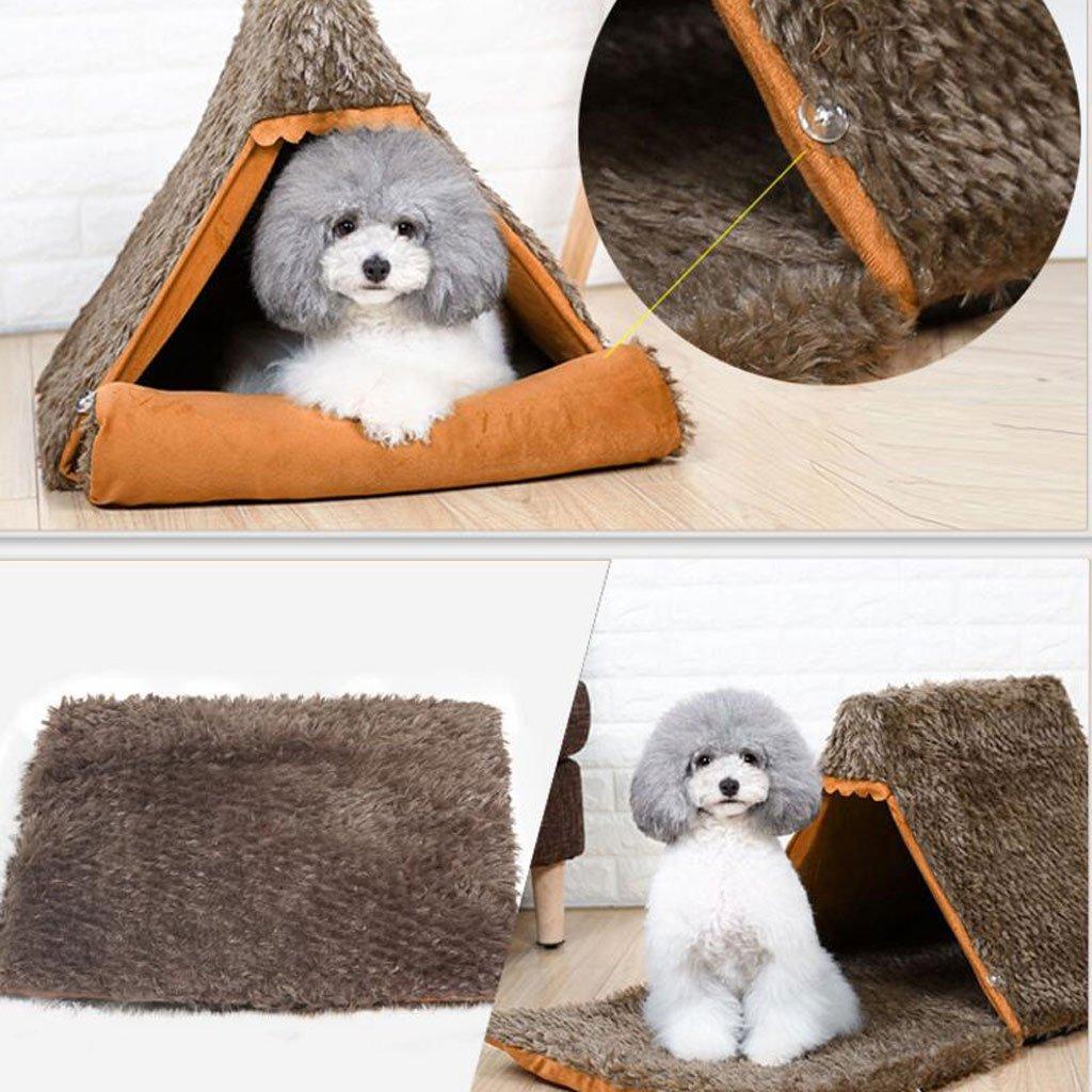 JiuErDP Caseta para Mascotas Invierno Peluche Perro pequeño yurta Tienda Nido casa de Perro Estera Cuatro Temporadas Universal casa de Gato casa de Perro: ...