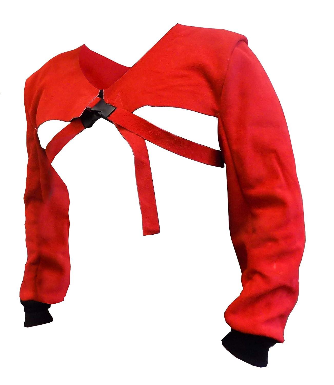 ign/ífugo Tusker longitud completa de 24 pulgadas con pu/ño resistente Par de mangas de soldadura de seguridad industrial de piel correa y hebilla