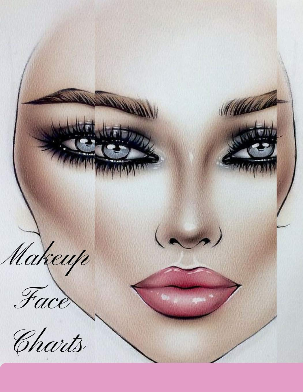 Makeup Face Charts The Blank Workbook Paper Practice Face Charts For Professional Makeup Artists