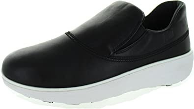 978cb66e530e57 FitFlop Loaff Sporty Slip On Sneaker - Black Leather Womens Trainers 6 UK