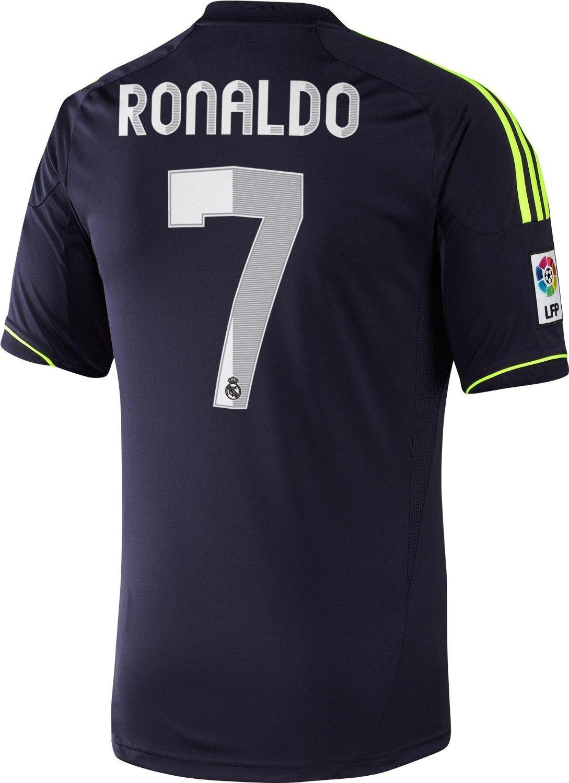 Adidas Real Madrid 2012 / 13 Away Soccer Jersey Ronaldo # 7 B0190ZAA1Eネイビーブルー XL