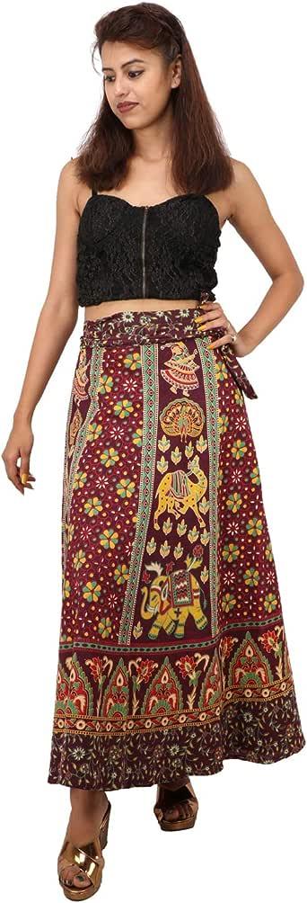 Suman Enterprises Cotton Wrap Around Skirt Dress Indian