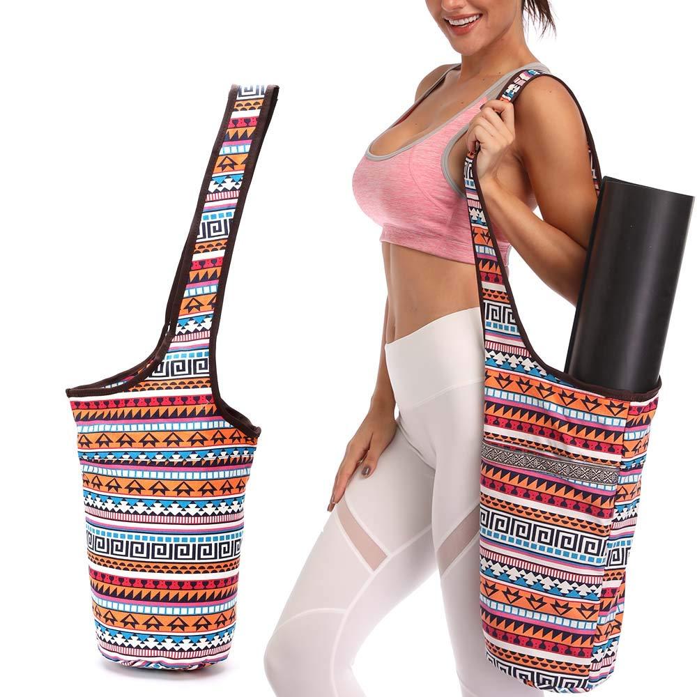 Amazon.com: FODOKO Yoga Mat Bag with Large Size Pocket and ...
