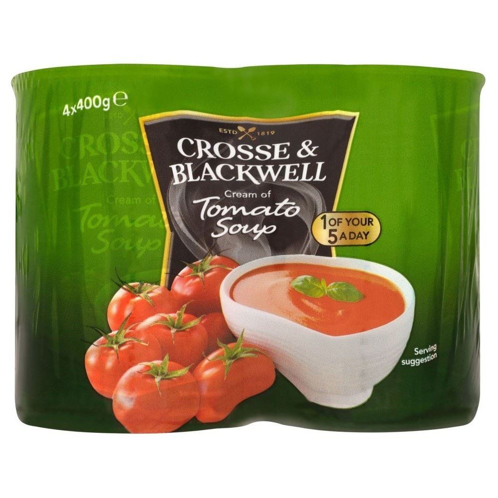 Crosse & Blackwell Cream of Tomato Soup (4x400g) - Pack of 2