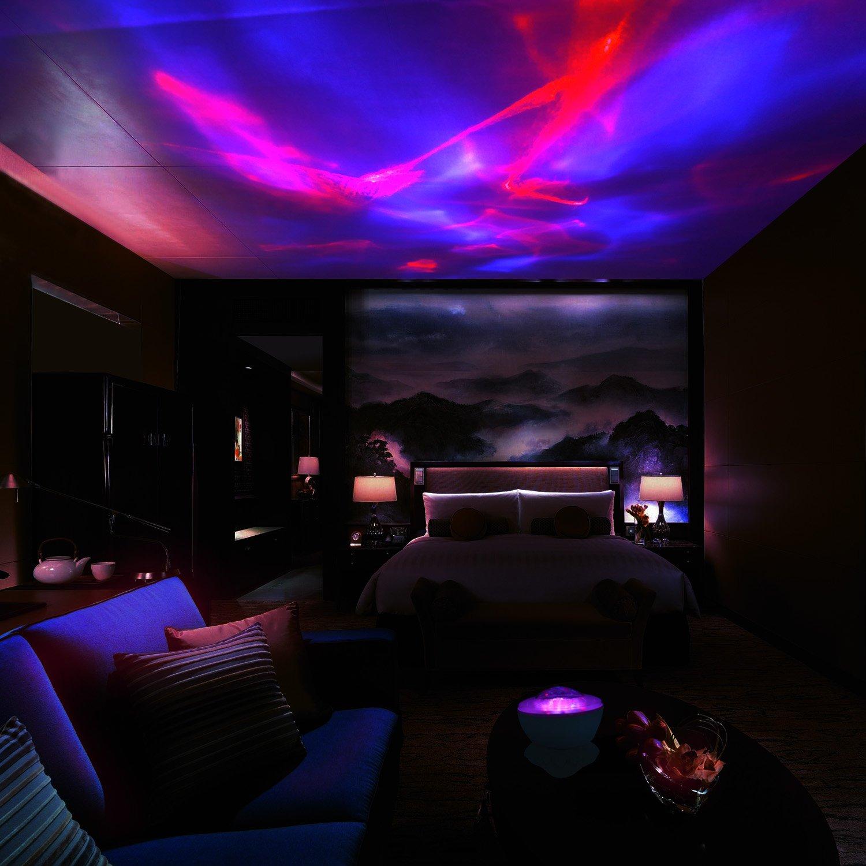 MKQPOWER Aurora boreal techo proyector con altavoces estéreo ...
