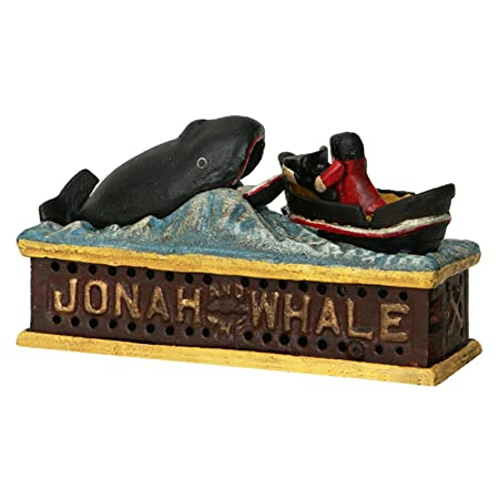 Luxus Pur Ug Jonah Whale Whale Money Box Iron A Fischer Boot