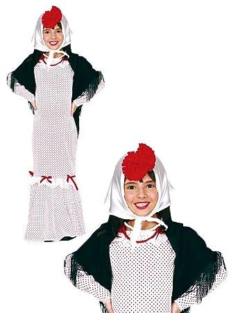 Disfraz de madrileña infantil 3-4 años