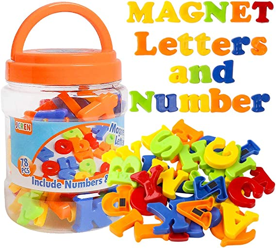 Cute Magnetic Letters Numbers Alphabet Fridge Magnets Colorful Wood Toy Set