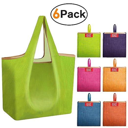 REGER Bolsas de compras reutilizables para comestibles ...