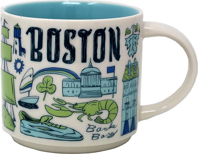 Starbucks Coffee Mug Been There Series Across The Globe Boston Kitchen Dining Amazon Com