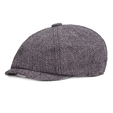 RICHTOER Newsboy Cap Painters Cap Beret Peaked Cap Flat Caps in Autumn and  Winter (Light 4bb80cc71f