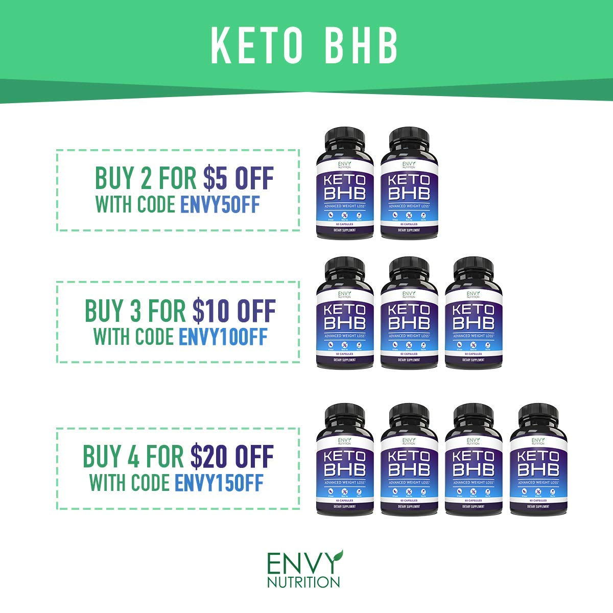 Best Keto Diet Pills – Shark Tank Advanced Weight Loss - BHB Salts Support Fat Burning, Ketosis, Improved Energy and Enhanced Focus by Envy Nutrition (Image #6)