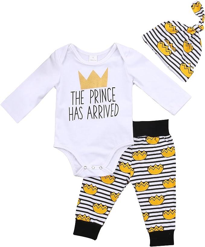 Amazon.com: Bebé recién nacido niños ropa Cartas Romper ...