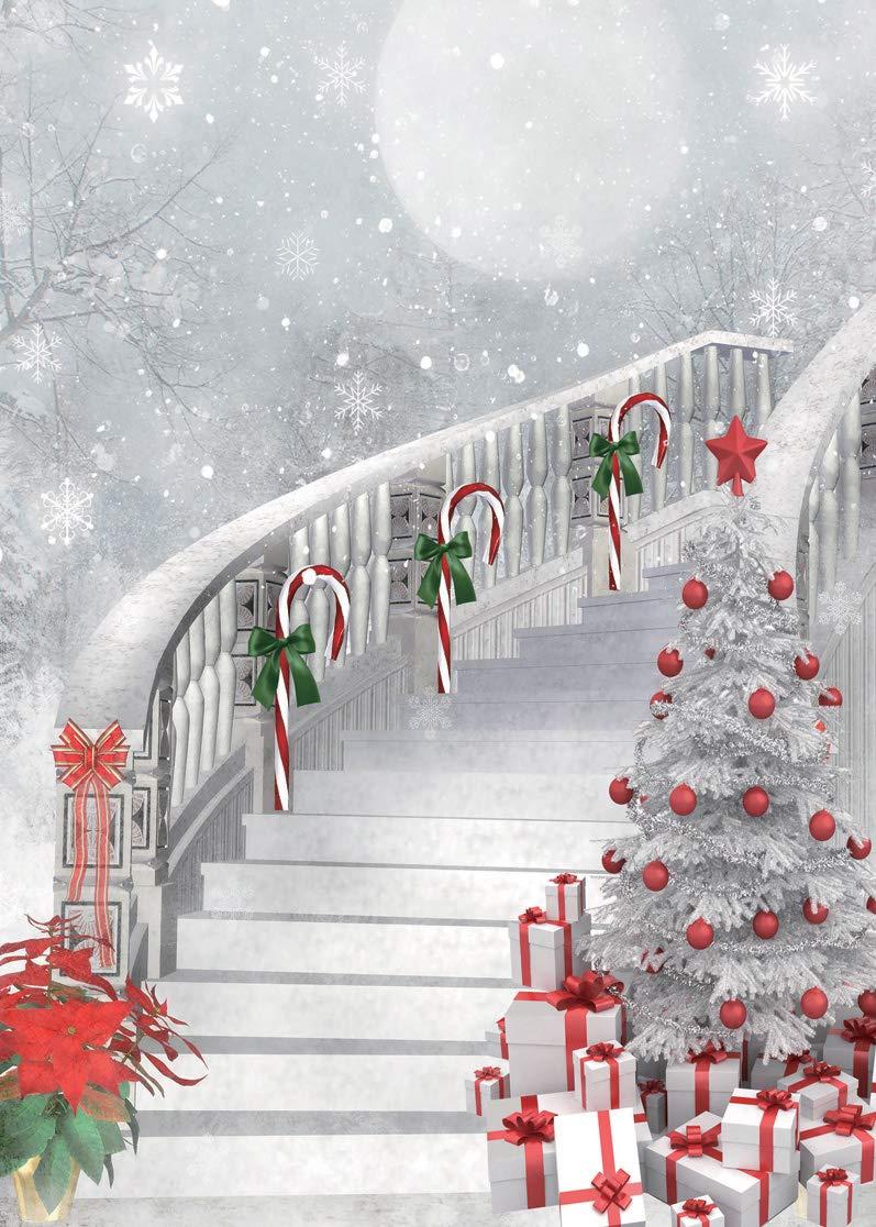LYWYGG 5X7FT Feliz Navidad Árbol de Navidad Fotografía Fondos Blanco ...