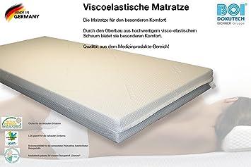 Anti decúbito colchón viscoelástica visco elástica 90 x 200 x 12 cm): Amazon.es: Hogar