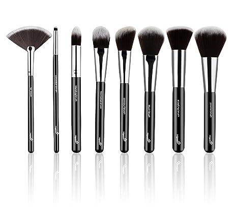 Set de 8 brochas maquillaje definitivo con estuche de cuero ...