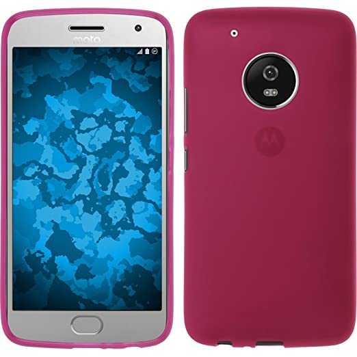 2 opinioni per PhoneNatic Custodia Lenovo Moto G5 Plus Cover rosa caldo stuoia Moto G5 Plus in