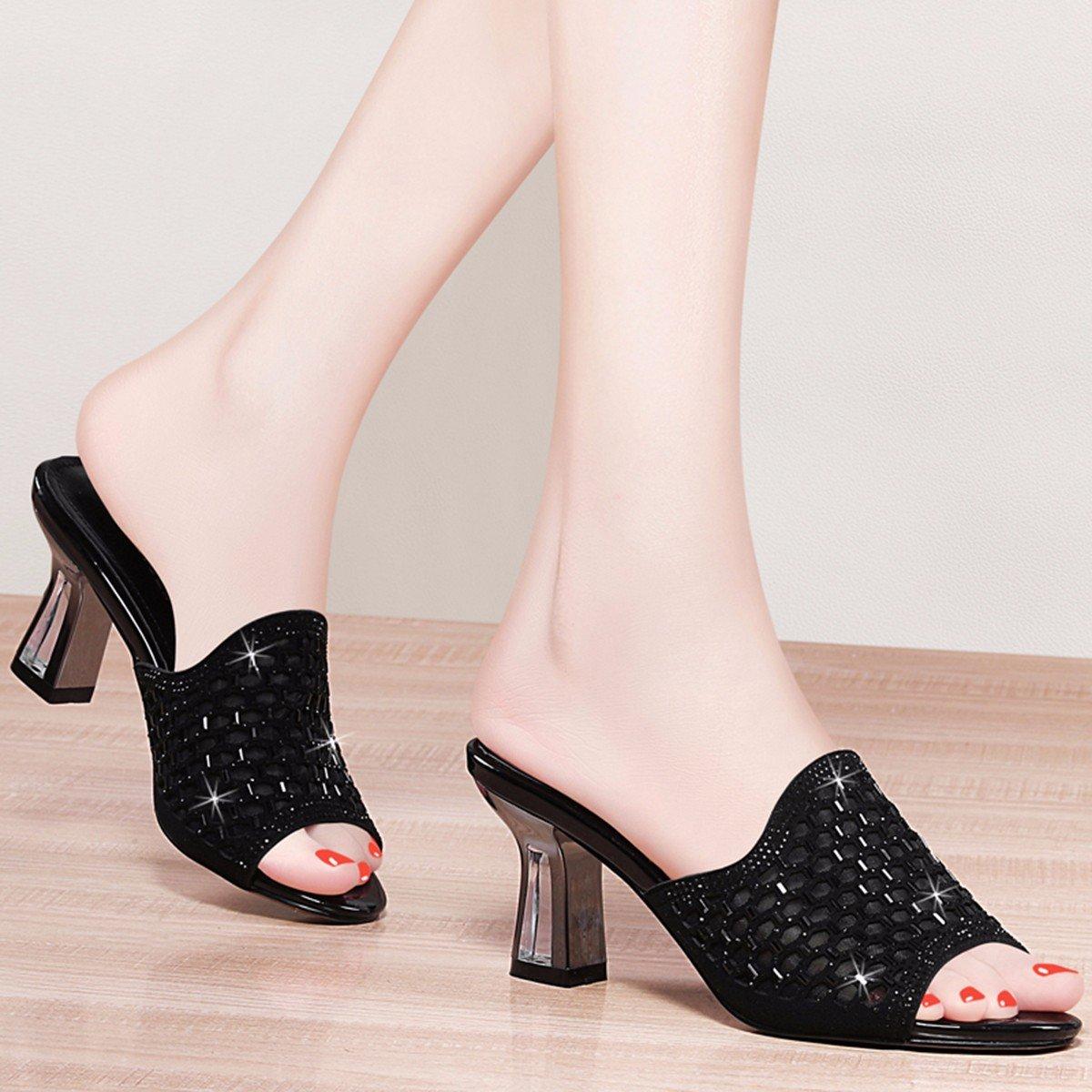 QPSSP Pantoffeln Stöckelschuhe, Heels, Pumps, Sandalen Und Und Und Damenschuhe. schwarz b5ba43