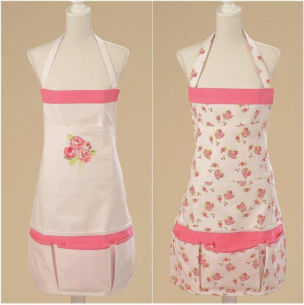 Schürze ROSIE Küchenschürze ROSE weiss rosa romantisch Backschürze Rosen NEU