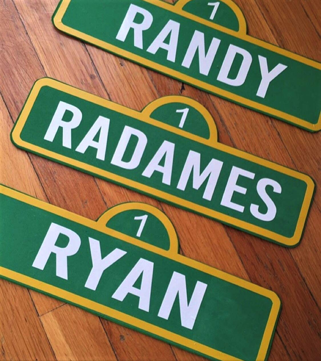 "Indoor//Outdoor  18/"" Wide LYLA Street Sign Childrens Name Room Sign"
