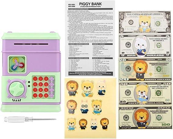 Mini ATM Ahorro de Bancos Electr/ónica Dinero Bancos Juguetes para Ni/ños sin bater/ía Pink Cajas de Ahorro de la Moneda Zerodis- Electr/ónica Huchas Juguetes
