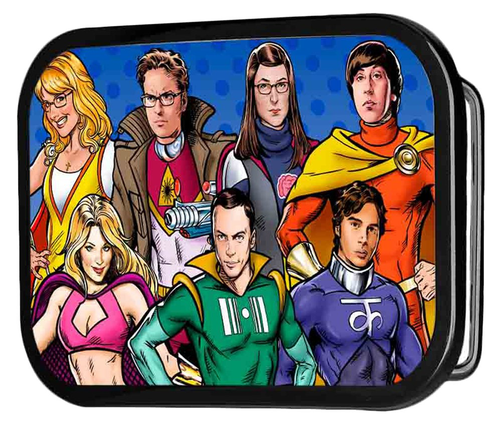 Big Bang Theory TV Series Super Hero Cast Rockstar Belt Buckle Buckle Down