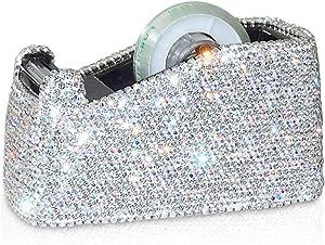 Bling Bling Crystal Luxury Handmade Diamond Desktop Tape Dispenser for Fashion Girls Women