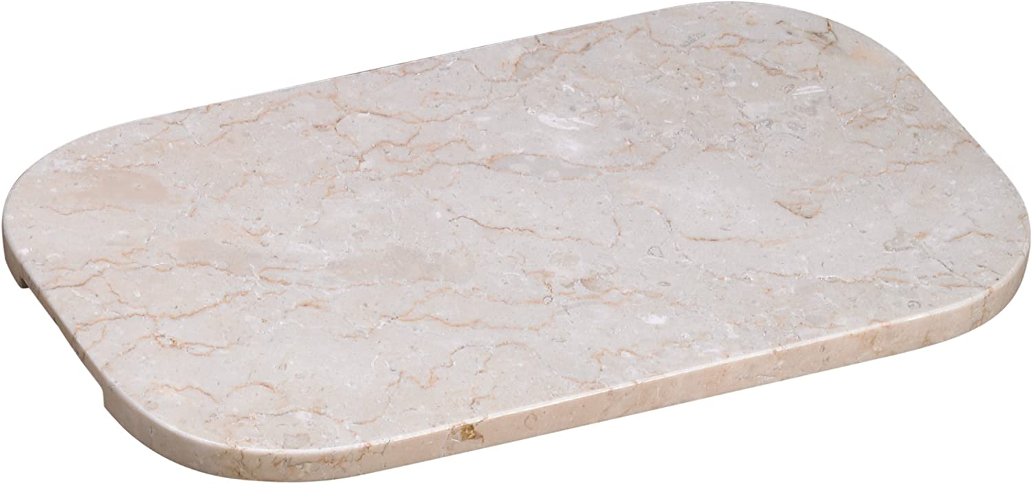 """Creative Home Champagne Marble 15.75"""" x 9"""" Oval Board with Cutout Handles"""