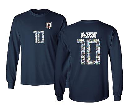 be5858ed834 Tcamp Japan Novelty Captain Nankatsu Tsubasa 2018 World Soccer Championship  Men's Long Sleeve T-Shirt