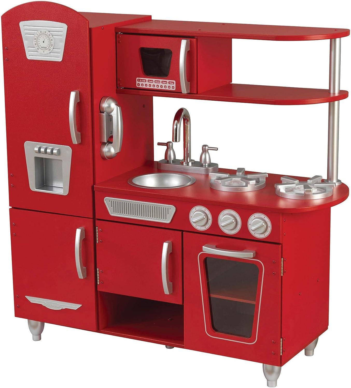 Amazon Com Kidkraft Vintage Play Kitchen Red Toys Games