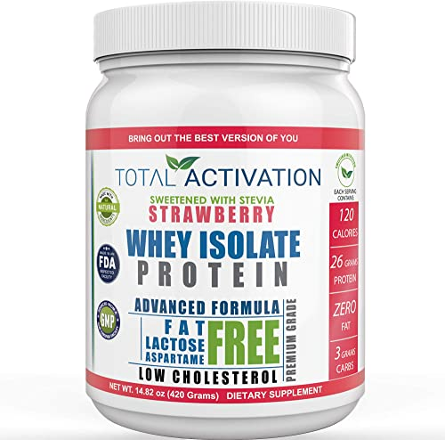 Lactose Free 100 Whey Isolate Low Carb Protein Powder Under 1 Gram Sugar Strawberry Protein Powder for Women Weight Loss Men Post Workout Recovery Drink Meal Replacement Shakes Keto Protein Powder