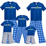 Footsteps Clothing Super Hero Family Matching Pajamas for Dad, Mom & Playwear for Boys, Girls