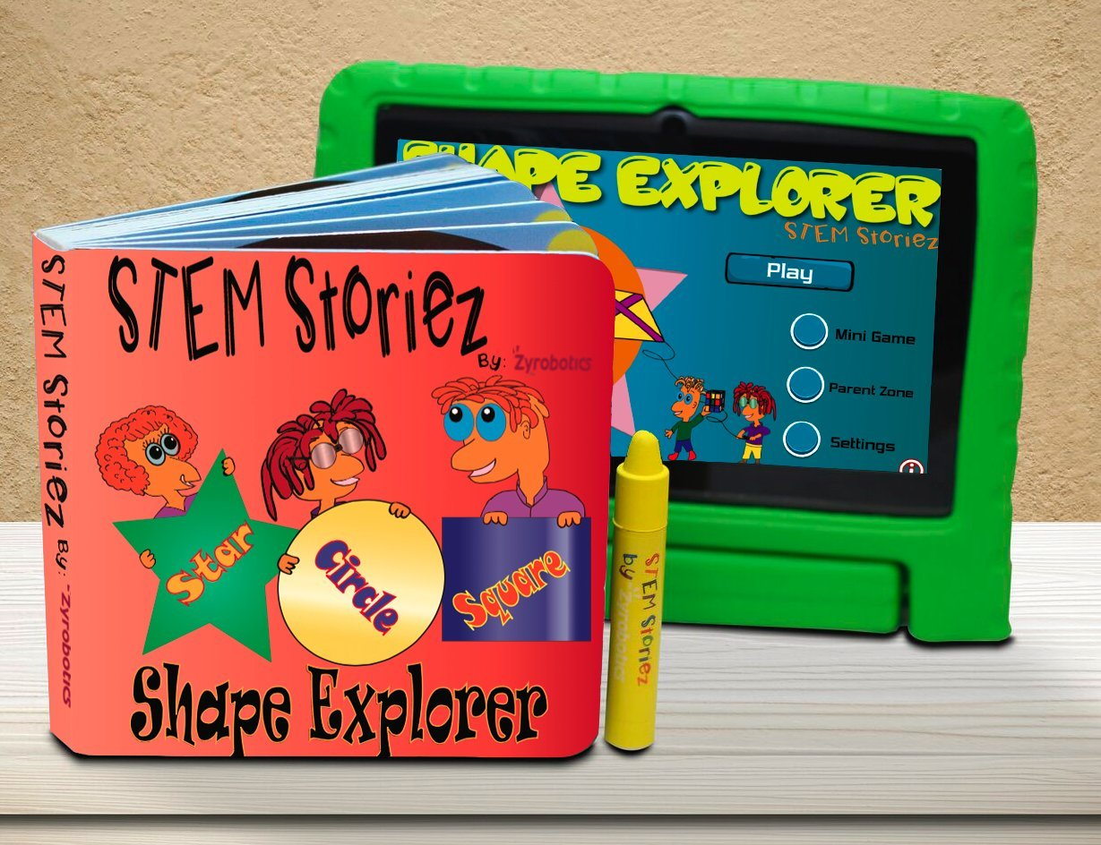 Shape Explorer STEM Storiez Book for Early Learners. Interactive Pre STEM Learning for Kids 3 7.