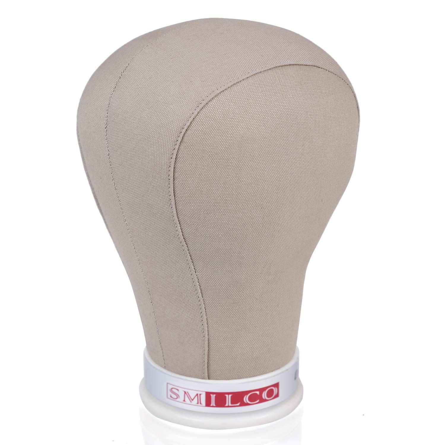 21 Inch Compatible Mannequin Head Stand,for Display and Wigs Making Smilco Wig Head Cork Canvas Block Manikin Head