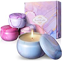 Scented Candles Gifts Set for Women, 4.4 oz Travel Tin Candle, Long Lasting with Essential Oils for Stress Relief Bath…