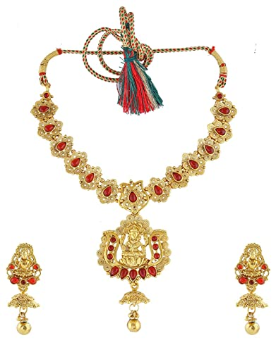173655db4 Buy Anuradha Art Maroon Colour Temple Styled Designer Classy Traditional  Necklace Set for Women Girls Online at Low Prices in India