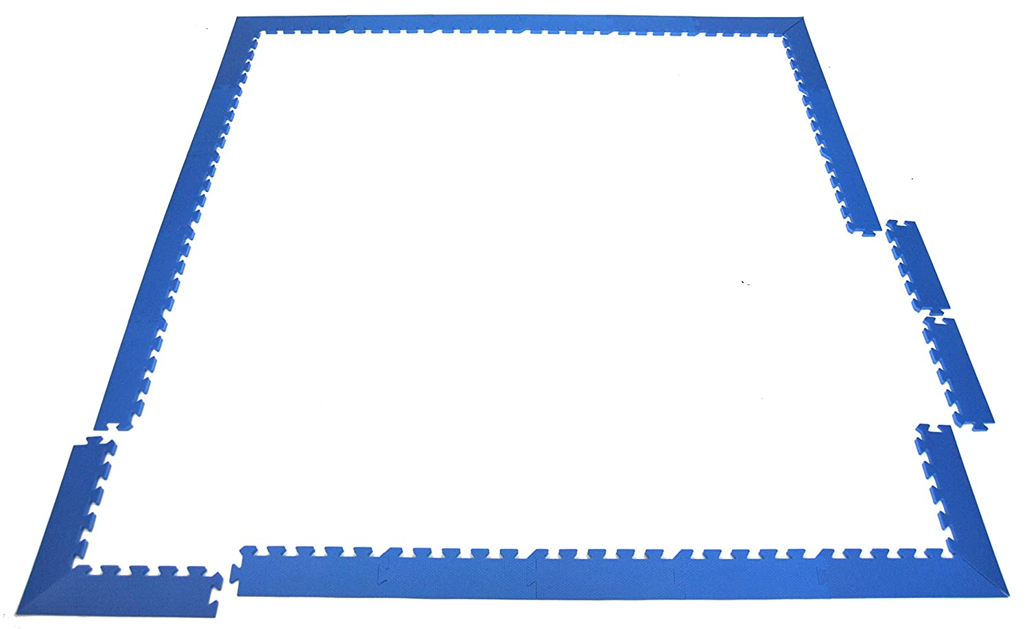 Wonder Mat Edging Package Set: 16 Sides & 4 Pairs of Corners for 6' x 6' Area (Blue) eWonderWorld CT-2627PKG