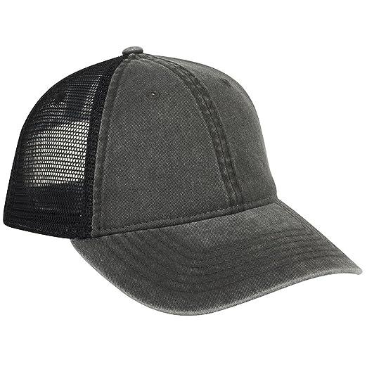 f52e11a17c196 OTTO 6 Panel Superior Cotton Twill Mesh Back Low Profile Trucker Hat - Black