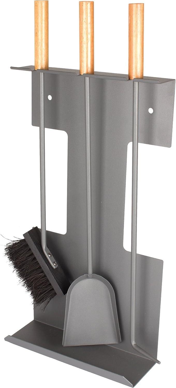 Valiant Premium - Juego de 3 piezas para chimenea (montaje en pared): Amazon.es: Bricolaje y herramientas