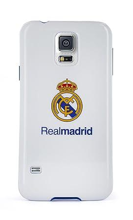 Real Madrid RMCT003 - Funda TPU para Samsung Galaxy S5, con escudo color, blanco