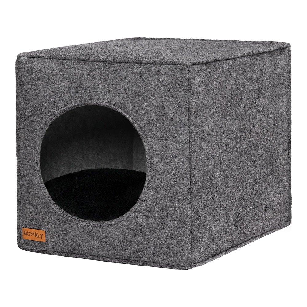 ANIMALY Anialy 5902659885111 Pets Cave pour Chien et Chat Noir/Gris