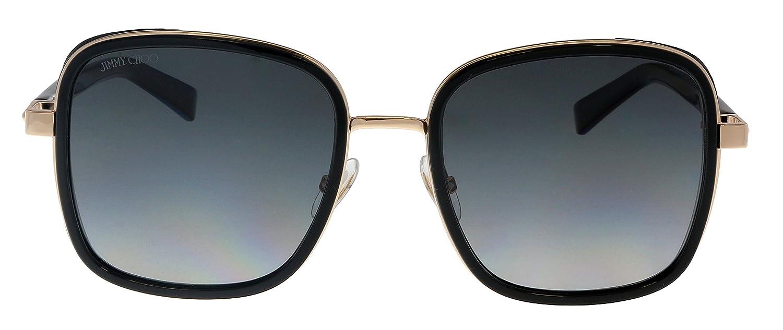 90fde6f9256cb Amazon.com  Jimmy Choo Elva S 2M2 Black Gold Elva S Square Sunglasses Lens  Category 2 Siz  Jimmy Choo  Clothing