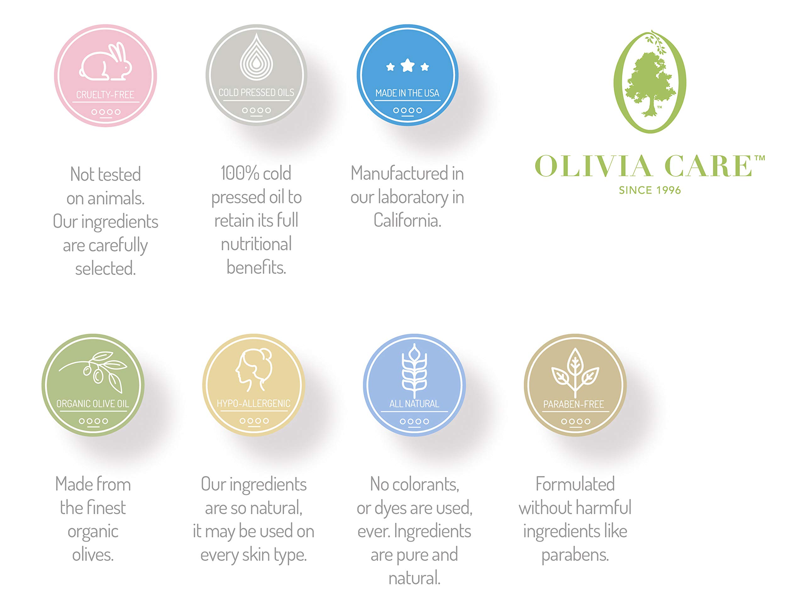 OLIVIA CARE Body Oils, Flavors: Apricot Fig, French Rose, Jasmine Gardenia -All Natural Perfume Fragrance & Body Oil Moisturizer, Rich in Vitamin E, K, Omega fatty Acids (French Rose) by Olivia Care
